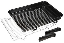 Universal Large Vitreous Enamel Oven Cooker Grill Pan Tray Rack 420mm x 300mm