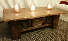 Handbuilt Solid Wood Coffee Table Reclaimed from Scaffold Boards/ Planks