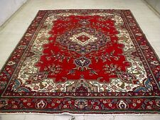 8X11 1940's SPECTACULAR AUTHENTIC HAND KNOTTED ANTIQUE WOOL TABRIZ PERSIAN RUG