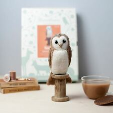 Needle Felting Kit - Make Own Barn Owl Bird - British Wool Design Craft Gift