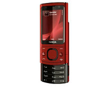 Nokia 6700 Slide - Red(Unlocked) Smartphone Bluetooth Camer 5.0 MP Free Shipping