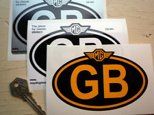 MG logo on GB oval car sticker 5in/125mm TA TD TE TF A B C R V8 GT F Magnette