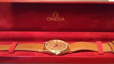 1981 omega seamaster gold plated wrist watch cal 1337