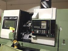 OKUMA LR15 M-W TWIN TURRET LIVE TOOLING CNC LATHE / GREAT CONDITION