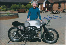 Sammy Miller SIGNED MOTO GUZZI TT Racing Legend 12x8 Photo AFTAL Autograph COA
