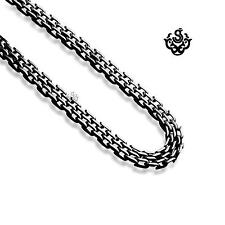 Silver necklace 316L stainless steel chain solid quality made soft gothic