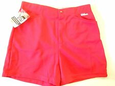 "NOS Vtg '80's Wilson Women's Coaches Shorts Size M 25""-26"" Red USA"