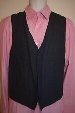 J CREW Mens Wool Cotton Blend Black Vest Waistcoat M