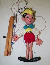 "VINTAGE PELHAM MARIONETTE STRING PUPPET PINOCCHIO EUC 11"" TALL ENGLAND"