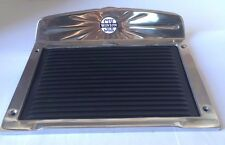 Winton Six Polished Deluxe Aluminum Running Board Step Plate Rubber SET