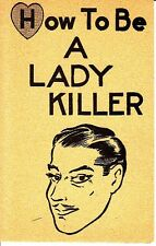How To Be A Lady Killer Vintage Small Greeting Card Man Heart