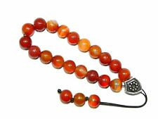 0271 - Prayer Beads Loose String Greek Komboloi 10mm Natural Agate Gemstone