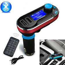 2017 Bluetooth Car Kit MP3 Player FM Transmitter SD LCD Dual USB Charger Red