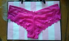 (NWT) VICTORIAS SECRET VERY SEXY CHEEKY PANTY HOT PINK SZ LARGE STRAPPY BACK