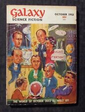 1952 Oct GALAXY Science Fiction Digest Magazine VG+ 4.5 Willy Ley