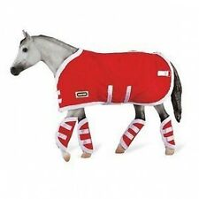 Breyer Traditional Red Blanket and Shipping Boots Pony Horse 1:9 Scale 3946