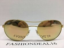 New Rayban Authentic Round Light Weight Matte Gold RB3536 112/2Y Sunglasses