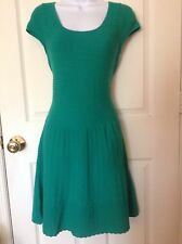 Lilly pulitzer green knit dress womens size large short sleeve summer dress