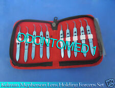 Set Of 10 Pcs Kelman Mcpherson Lens Holding Forceps Titanium Instruments