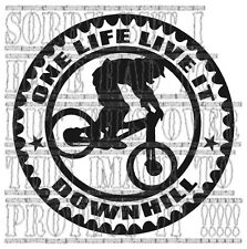Mountain Bike Sticker One Life Live it Downhill Car Van Graphic VINYL MTB quote