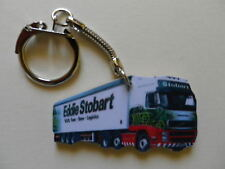 EDDIE STOBART WHITE TRUCK & TRAILER LORRY KEYRING. NEW. KEY RING