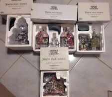 Department 56 North Pole Series Lot of 4 Buildings
