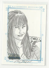 Lucy Lawless XENA Art & Images Hand Drawn Sketch Card SketchaFEX by Cris Bolson