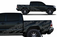 Vinyl Decal 4D Tacoma Shred Wrap for Toyota Tacoma TRD SHORT BED 2005-2015 Gray