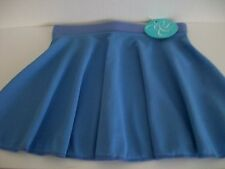 Tappers and Pointers ISTD Sky Blue Poly-Crepe circular skirt 26""