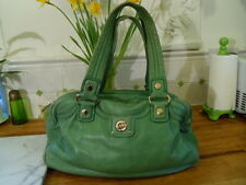 MARC JACOBS APPLE GREEN LEATHER HANDBAG LARGE BUTTERSOFT LEATHER