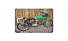 Ducati 450 Desmo Motorbike Sign Metal Retro Aged Aluminium Bike