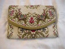 Great Vintage Boho Needlepoint Tapestry Clutch Type Purse Beautiful Colors SOFT!