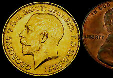 P378: 1912 High Grade (EF or better) Gold Half Sovereign - year the TITANIC sank