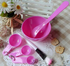 6in1 Home Made Makeup Beauty Facial Face Mask Bowl Brush Spoon Stick Tool Set