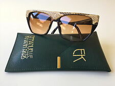 Vintage Emmanuelle Khanh sunglasses EK 6060 snake skin main made in France