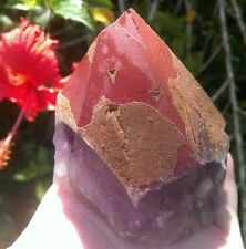 AWESOME RED CAP AURALITE 23 CRYSTAL SPECIMEN 438 GRAMS Amethyst, Quartz, Ajoite