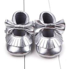 Toddler Girl Crib Shoes Newborn Baby Bowknot Soft Sole Prewalker Sneakers  New