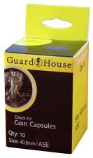 Guardhouse American Silver Eagle 40.6mm Direct Fit Coin Capsules, 10 pack