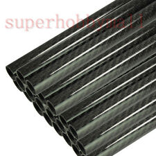 1X Roll Best Quality Carbon Fiber Tube 3K 8mm*10mm*500mm for RC Airplane Glossy