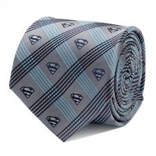 DC Comics Superman Gray Plaid Tie Men's Tie Free Same Day Shipng New