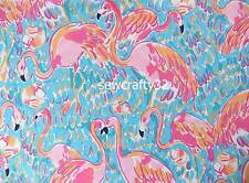 "Lilly Pulitzer Peel & Eat Cotton Dobby Fabric  BTY x 57"" Flamingo"
