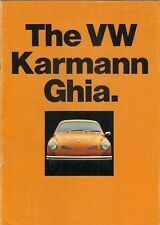 Volkswagen Karmann Ghia 1600 1971-72 UK Market Sales Brochure Coupe Convertible