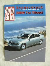 BMW 7er Diesel - Fahrbericht - Sonderdruck AutoBild Heft 35/2002