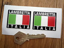 LAMBRETTA ITALIA Tricolore Style Stickers 50mm Pair Scooter Li TV GP GT DL LX SX