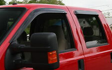 Tape-On Wind Deflectors for 1999 - 2016 Ford Super Duty Extended Cab
