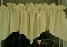 """JC Penneys Solid  White Lined Tailored Valance Scalloped 84 X 15 X 21"""""""