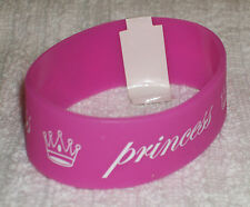 RUBBER WRISTBANDS *** PRINCESS *** NEW - 25 cm - COLOUR PINK