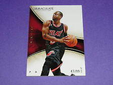 2013-14 Immaculate DWYANE WADE #18 Premium/99 Miami HEAT Marquette GOLDEN EAGLES