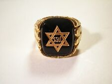 1 Goldplated Star of David Adjustable Ring