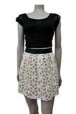 Pins and Needles Urban outfitters Daisy Pleated embroidered skirt Size 0